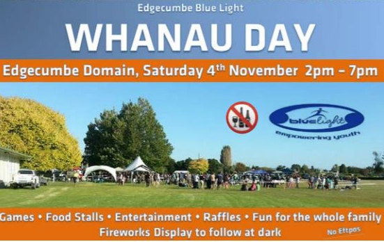 Edgecumbe blue Light WHANAU DAY